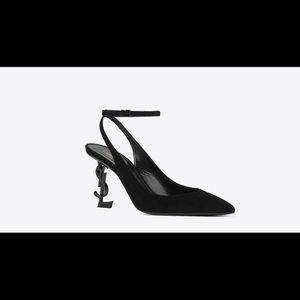 5364b0b62fa Saint Laurent Shoes - OPYUM SLINGBACK PUMPS IN SUEDE WITH BLACK HEEL